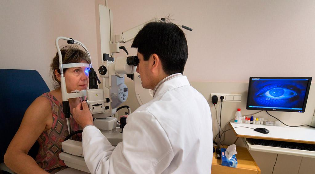 Glaucoma y el deterioro del nervio óptico.